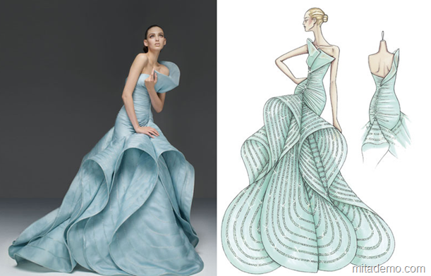 Wear the drawings of famous fashion designers – From Sketch to Dress |